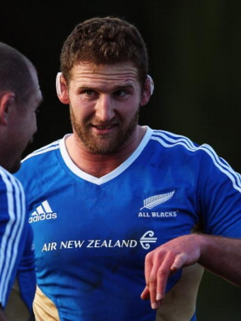 Kieran Read gives instructions during an All Black training session at Stadio Tre Fontane di Roma...