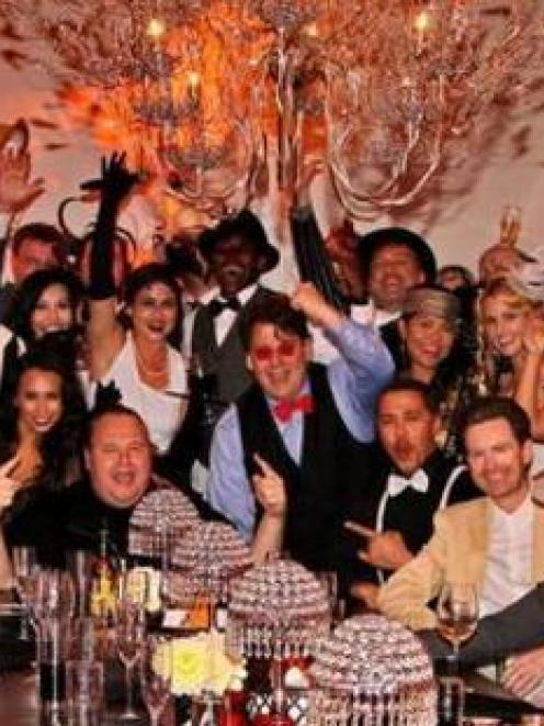 Kim Dotcom's surprise Birthday party at Coatesville mansion.