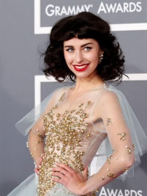 Kimbra arrives at the 55th annual Grammy Awards in Los Angeles, California. REUTERS/Mario Anzuoni
