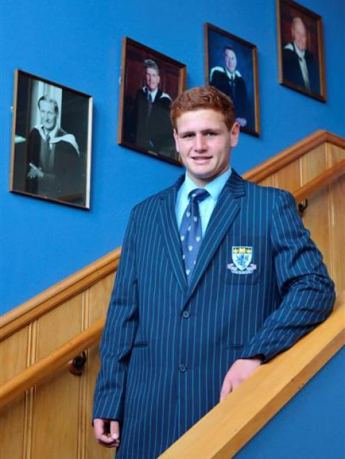 King's High School year 13 pupil Sidney Fidow (17) models one of the options for the school's new...