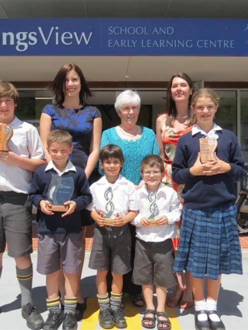 KingsView School academic excellence and good character award-winners (from left) Joshua...