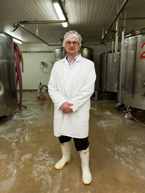 "Klondyke Fresh's Graeme Brown accuses the two milk companies of ""stretching"" their product. Photo..."