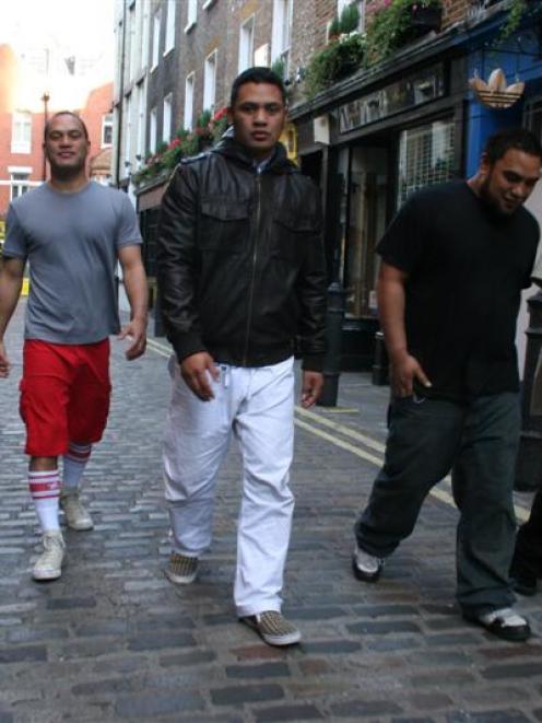 Kora (from left) vocalist-guitarist-keyboardist Laughton Kora, vocalist-bassist Francis Kora,...