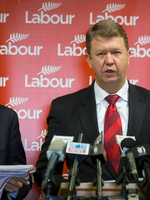 Labour Party finance spokesman David Parker, left, and leader David Cunliff. Photo / Mark Mitchell