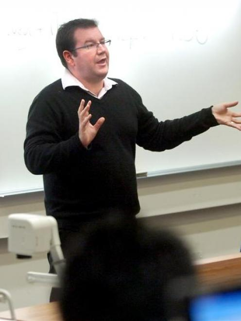 Labour Wellington Central MP Grant Robertson gives a talks to law students at the University of...