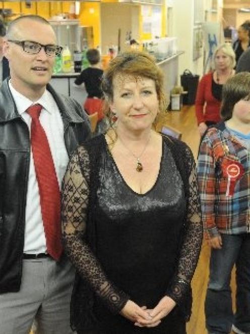Labour winners . . . David Clark, who won Dunedin North with Clare Curran, who held Dunedin South...