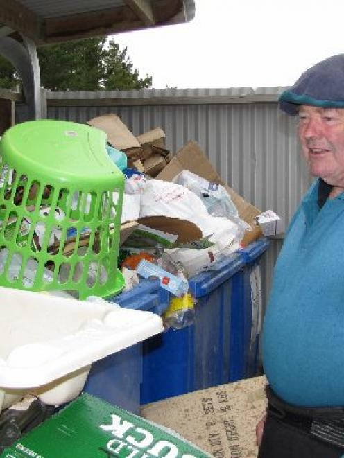 Lake Hawea resident Ritchie Hewitt is calling for more supervision of the Lake Hawea recycling...