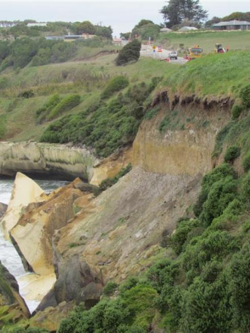 Land is often not secure, as witnessed by this slip on the coast at the northern approach to...
