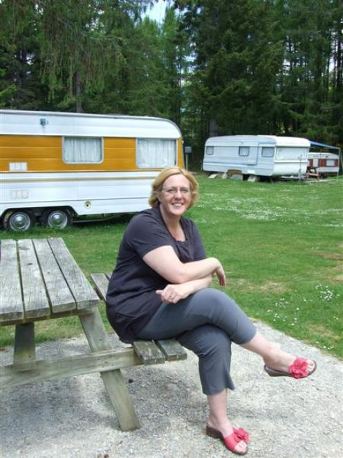 Larchview Holiday Park co-owner Tracy de Woeps enjoys the peace before the holiday rush at the...
