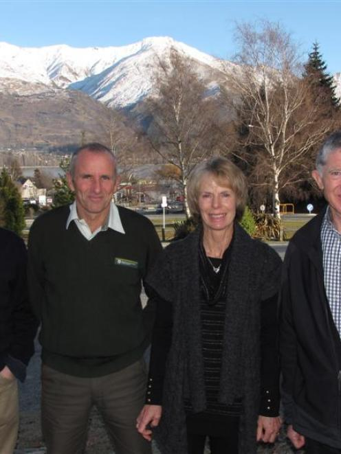 Launching a major new Mt Aspiring National Park conservation project in Wanaka at the weekend are...