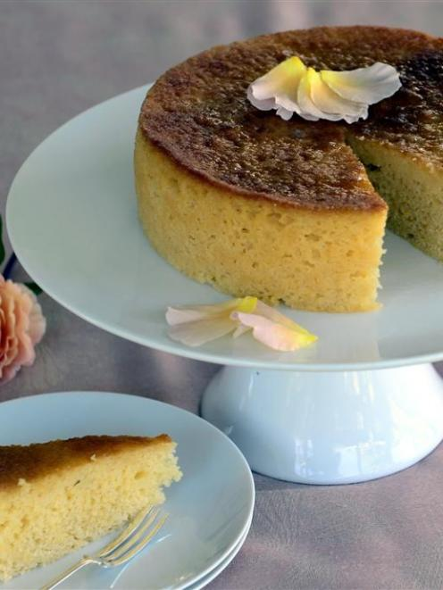 Lemon really is the star of this lemon drizzle cake. Photo by Peter McIntosh.