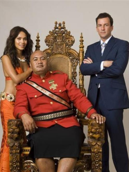 Lesley-Ann Brandt, Dave Fane and Craig Parker star Diplomatic Immunity, a politically incorrect...