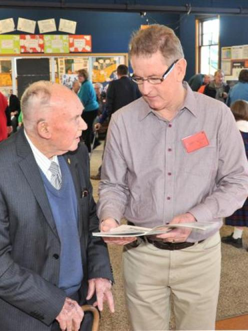 Lex Smith (86),the only first-day past pupil attending the St Brigid's 75th jubilee at the...