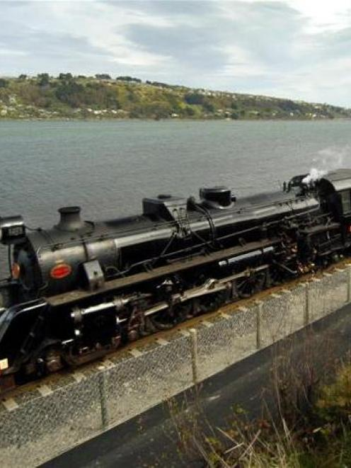 Locomotive Ja1271 travels along beside Ravensborne on Saturday afternoon. Photo by Gerard O'Brien.