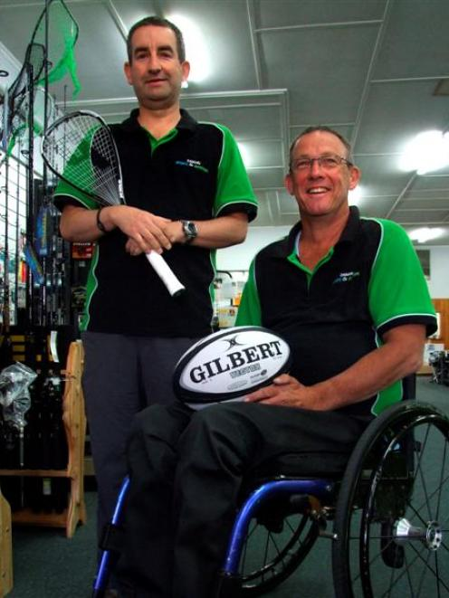 Long-time workmates Barry McCallum (left) and Richard Hill have been in business for 10 months at...