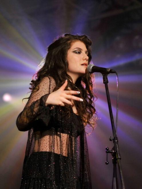 Lorde performs at the VEVO Halloween showcase at The Oval Space in London.  Photo Getty