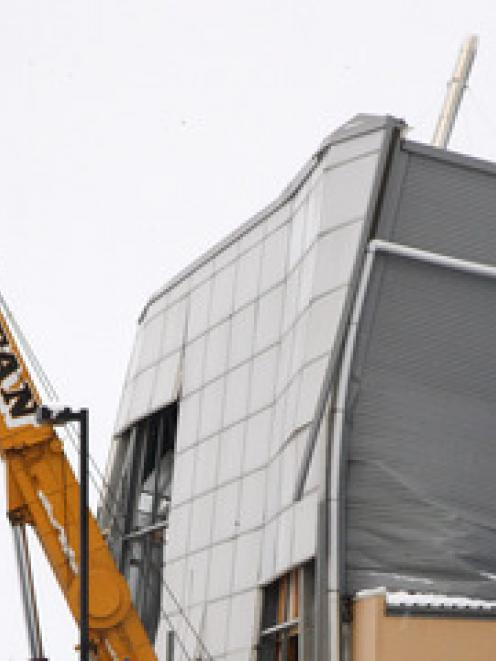 Stadium Southland collapses under the pressure of snowfall. Credit:NZPA / Dianne Manson..