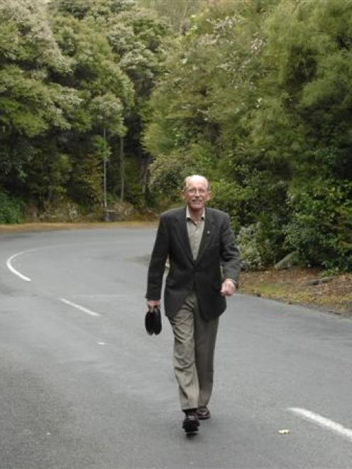 Lovelock Environment Society secretary Dr Antony Wood on Lovelock Ave, a road he wants retained...