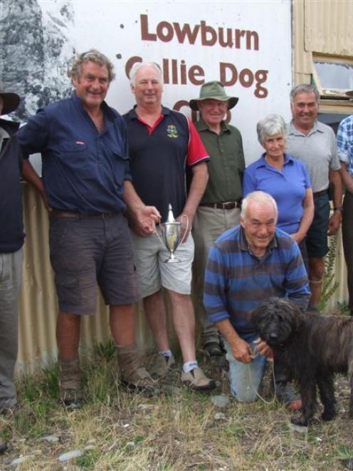 Lowburn Collie Dog Club stalwarts Geof  Brown, Peter Morton, Bob Perriam, Duncan Henderson,...