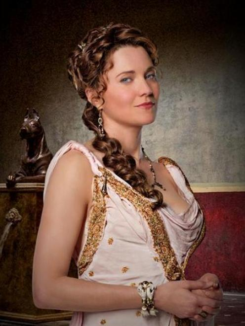 Lucy Lawless in <i>Spartacus: Gods of the Arena</i>. Photo supplied.