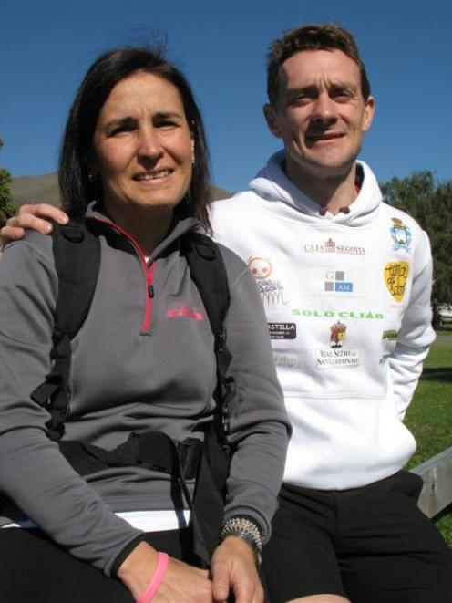 Luis Marcos (39) in Wanaka yesterday - with partner Beatriz Rodriguez - ready for the eighth...