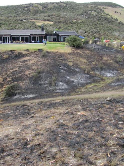 Lynden and Zita Cleaugh's home at MT Iron that narrowly escaped being engulfed by fire yesterday....