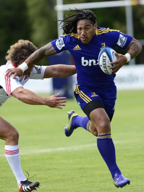 Ma'a Nonu during the Highlanders against the Crusaders preseason rugby match at Oamaru. Photo by...