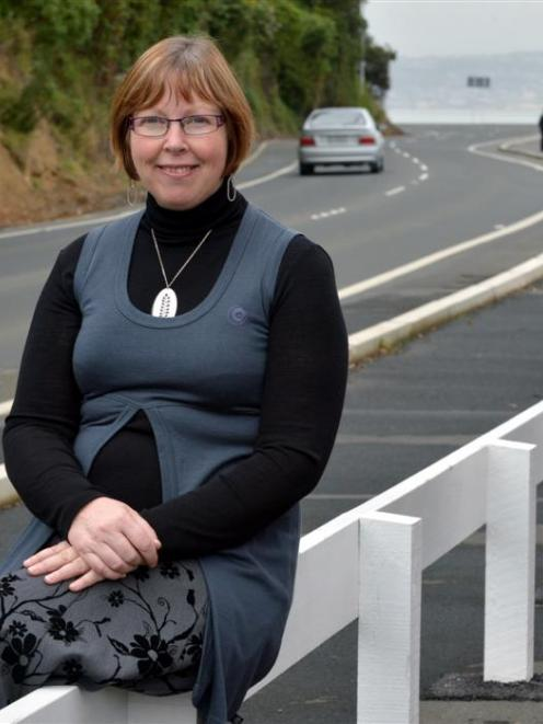 Macandrew Bay School principal Bernadette Newlands says the cycle/walkway at Macandrew Bay has...