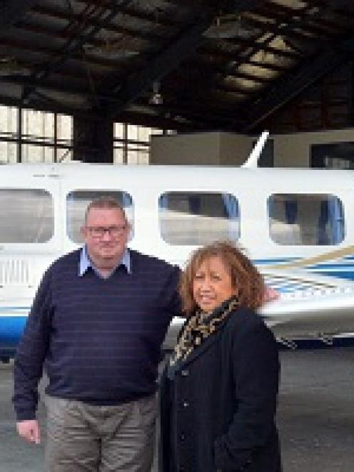 Mainland Air owner/operators Philip Kean, and his wife Shirley, with their latest addition, a 10...