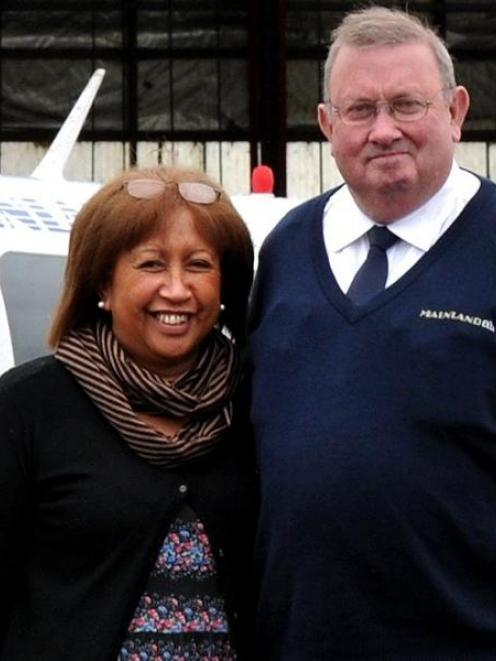 Mainland Air's Shirley and Phil Kean. Photo by ODT.
