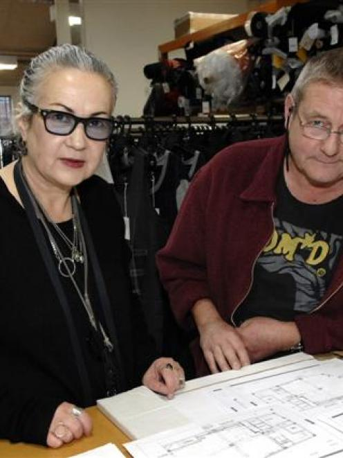 Making it work . . . Margi and Chris Robertson, of fashion label Nom*D and Plume clothing stores,...