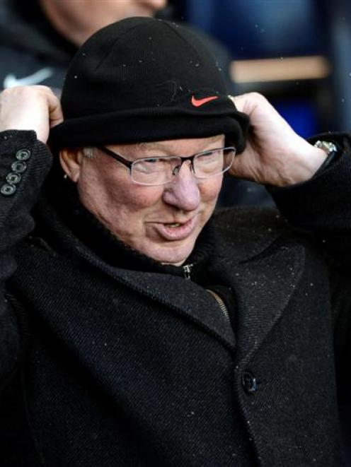 Manchester United's manager Alex Ferguson during the Premier League match against Tottenham...