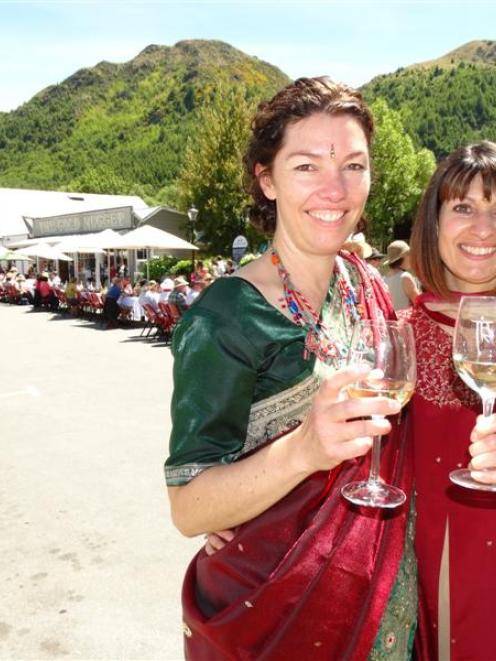 Mandy Pratley (left), of Auckland, and Tina Singh, of Tokoroa,  flew to Queenstown to attend...