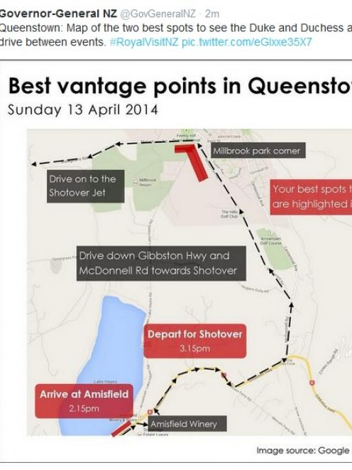 Map of the best vantage points in Queenstown. Click picture to enlarge.