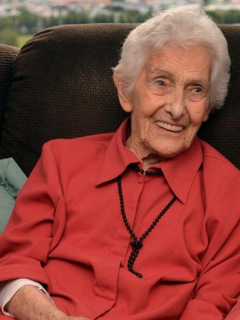 Marie Burn, who celebrated her 100th birthday at the Frances Hodgkins Retirement Village on...