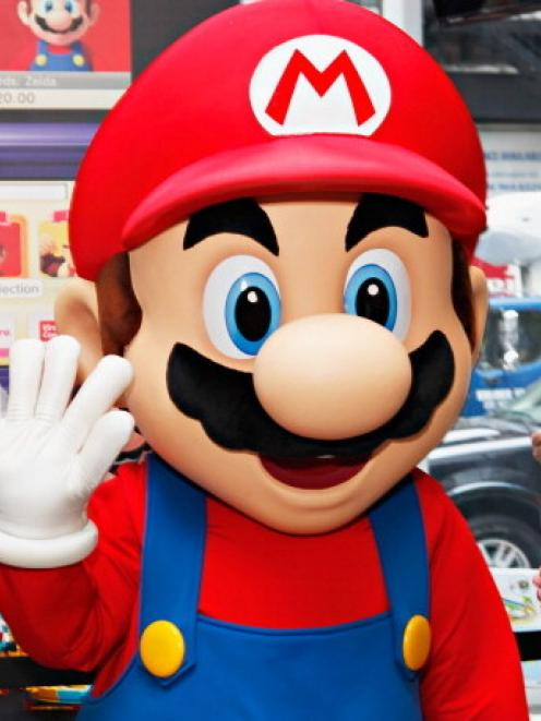 Mario attends the Mario Kart Wii Building Set event at the Nintendo World Store in New York last...