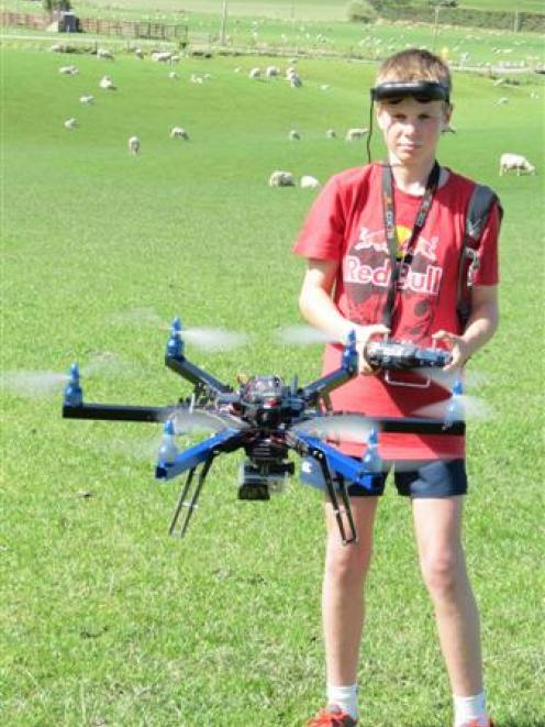 Mark Gardyne (13), of Otama, is working with his father Neil, to trial a drone to assess its...