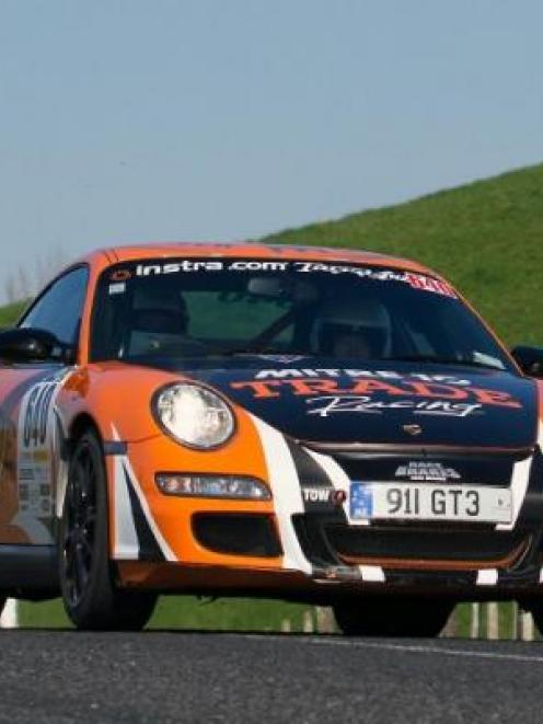 Martin Dippie, here with co-driver Jona Grant in their Porsche GT3, is the defending Targa New...