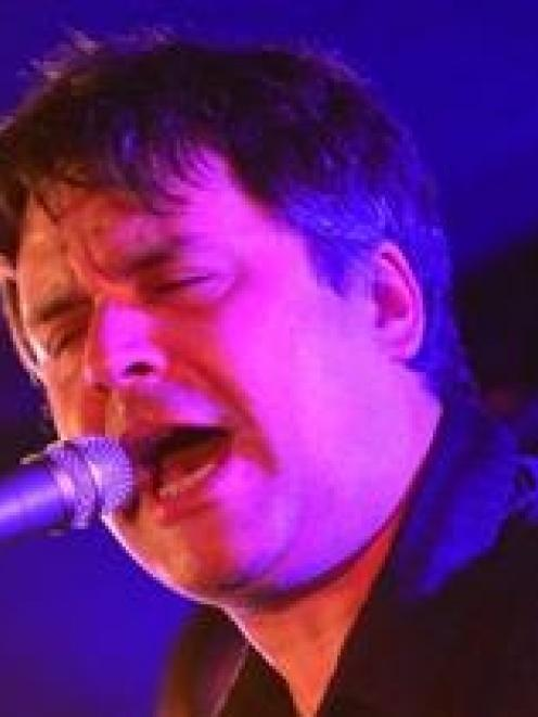 Martin Phillipps performs with the Chills in Dunedin last September. Photo by Peter McIntosh.