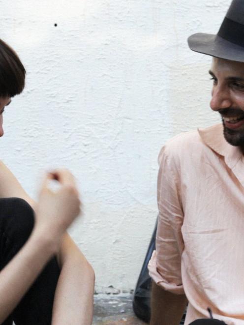 Masha Yakovenko and film-maker Florian Habicht are the romantic interest in <i>Love Story</i>....