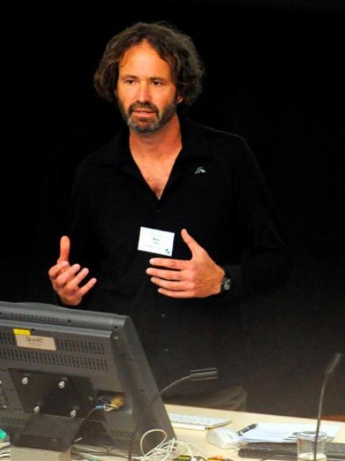 Massey University freshwaterecologist Mike Joy speaks at the New Zealand Freshwater Sciences...