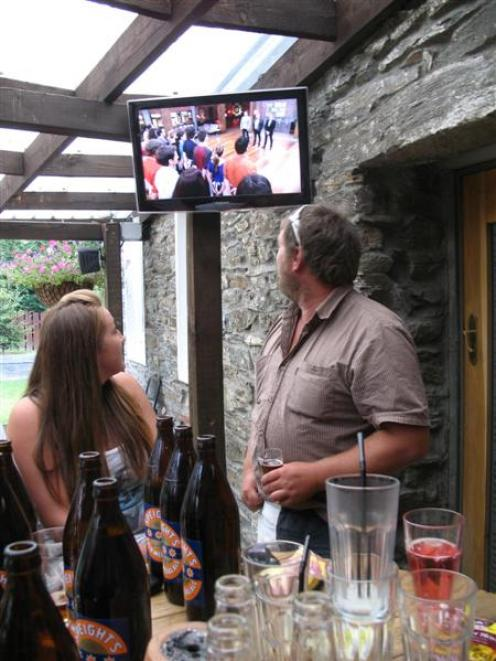 MasterChef competitor Jonny Trevathan watches his demise with Luggate Hotel manager Becs Leonard...