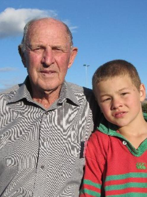 Matakanui Combined Rugby Football Club patron and former player Jim Morgan, of Omakau, and one of...