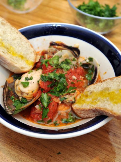 Mauro's Neapolitan mussel and clam soup. Photos by Gregor Richardson.