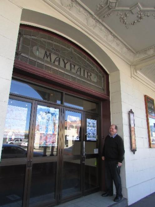 Mayfair Theatre manager and trust member Bruce Collier outside the main entrance to the South...