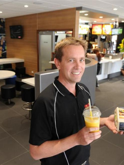 McDonald's franchisee Justin Stonelake in the redeveloped dining room of the Great King St...