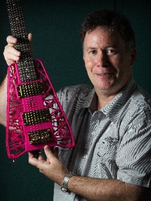 Mechatronics professor Olaf Diegel specialises in 3-D printing and makes his own electric guitars...