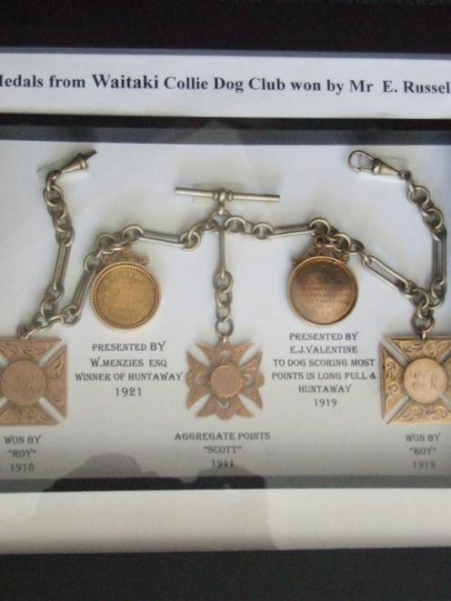 Medals which belonged to Ted Russell will be on display at the trials. They date back to 1911.