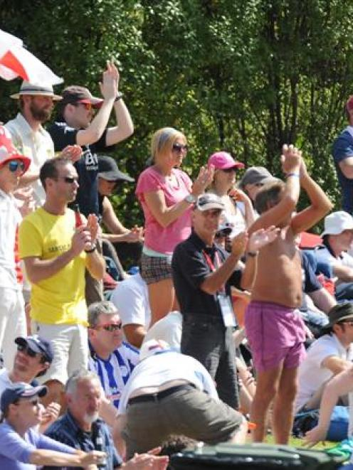 Members of England's Barmy Army were in full voice at the University Oval in Dunedin yesterday...