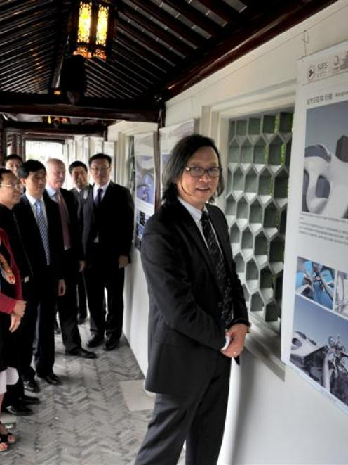 Members of Otago Polytechnic and Shanghai University of Engineering Science (from left) Caroline...